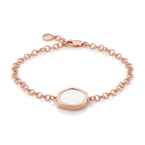 Rose Gold Vermeil Atlantis Gem Bracelet - White Chalcedony