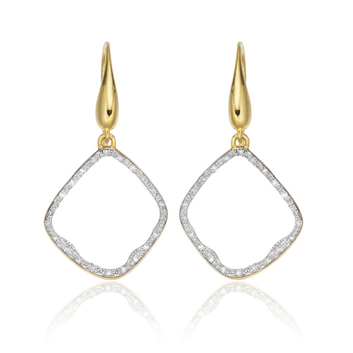 Gold Vermeil Riva Diamond Hoop Earrings - Diamond - Monica Vinader