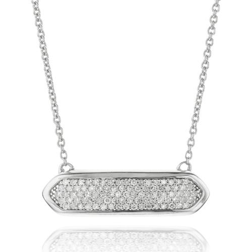 Baja Mini Necklace - Diamond - Monica Vinader