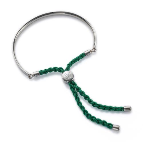 Fiji Friendship Bracelet - Racing Green - Hope - Monica Vinader