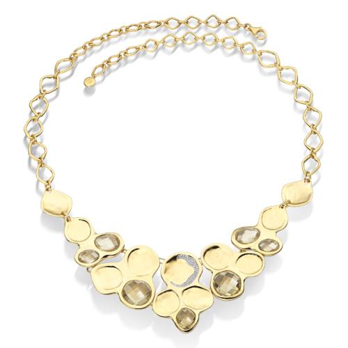 Gold Vermeil Riva Bib Necklace - Lemon Quartz - Monica Vinader