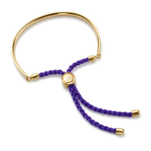 Gold Vermeil Fiji Friendship Bracelet - Plum
