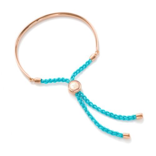 Rose Gold Vermeil Fiji Friendship Bracelet - Turquoise