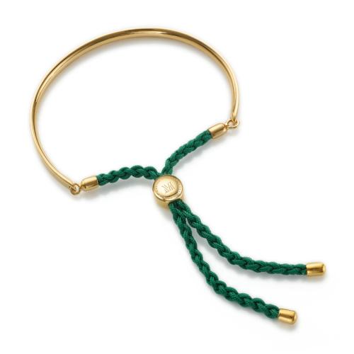 Gold Vermeil Fiji Friendship Petite Bracelet - Racing Green