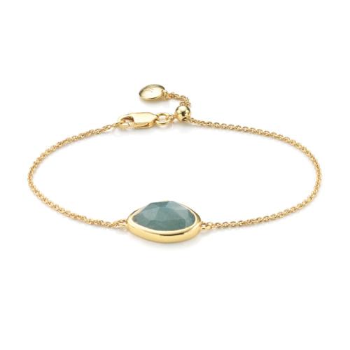 Gold Vermeil Siren Teardrop Bracelet - Aquamarine