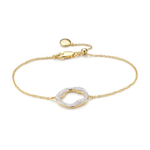 Gold Vermeil Riva Circle Chain Bracelet