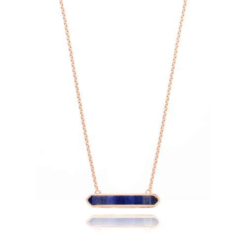 Rose Gold Vermeil Baja Necklace - Lapis - Monica Vinader