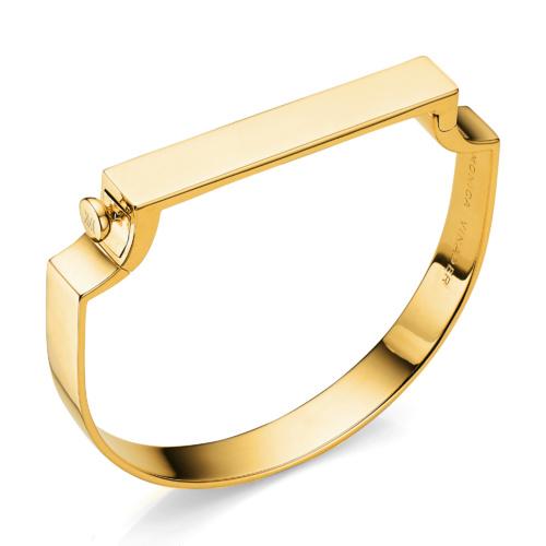 Gold Vermeil Signature Petite Bangle - Monica Vinader