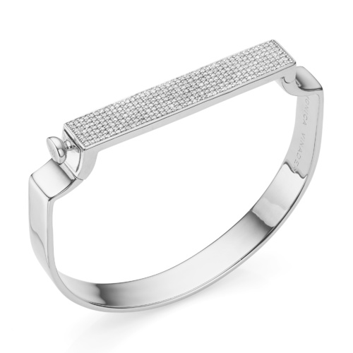 Signature Bangle - Diamond - Monica Vinader